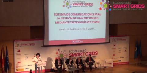 Noelia Uribe, CEDER/CIEMAT en el II Congreso Smart Grids