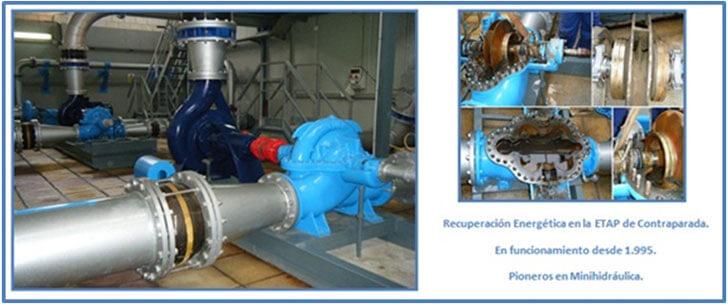 Figura 5. Recuperación energética en la red de abastecimiento de la ciudad de Murcia.