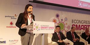 Estefanía Hernández, Robert Bosch, en el II Congreso Smart Grids