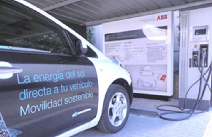 Instalación de carga rápida de vehículo eléctrico