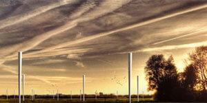 Energía renovable eólica obtenida de molinos sin hélices