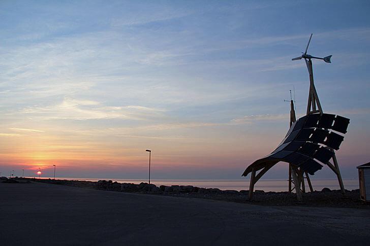 Atardecer en la costa de Malmo