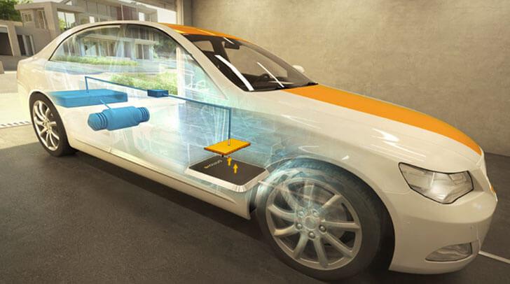 Sistema de recarga de vehículos sin cables.