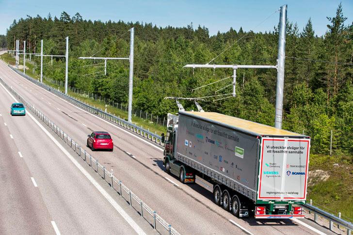Camión Hibrido Diesel-Eléctrico por autopista eléctrica eHighway