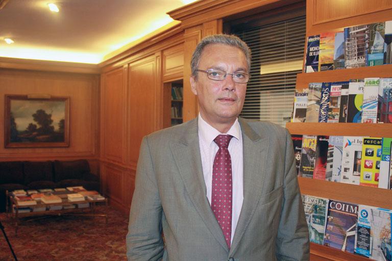 Guillermo Amann, Presidente de AFBEL, en el COIIM