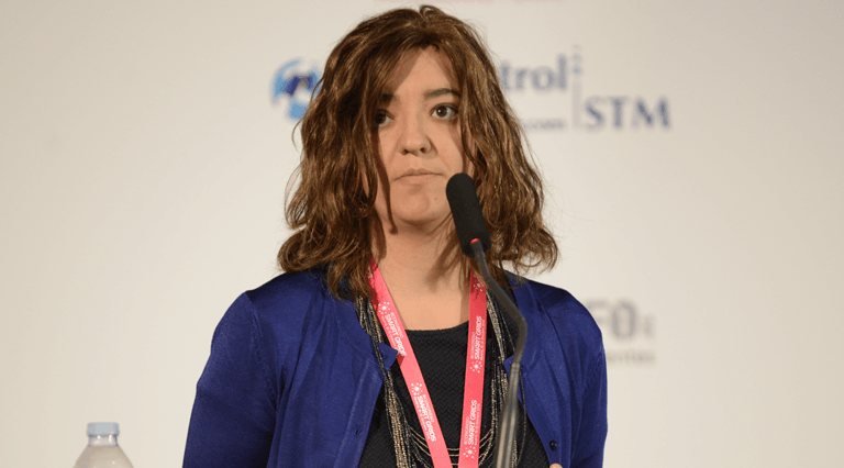 Julia Merino de Tecnalia Research & Innovation, durante su ponencia en el III Congreso Smart Grids.