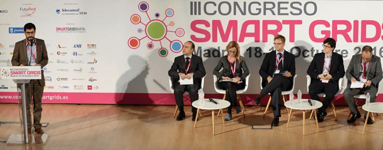 Participantes del Tercer Bloque de Ponencias del III Congreso Smart Grids.