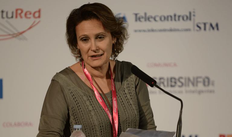 Blanca Losada, Presidenta de FutuRed, durante la inauguración del III Congreso Smart Grids.