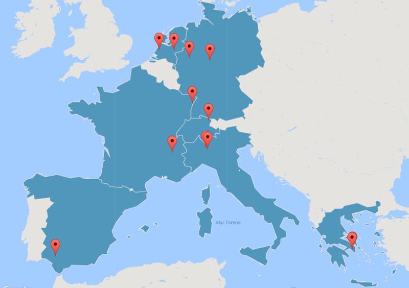 Distribución geográfica de los participantes