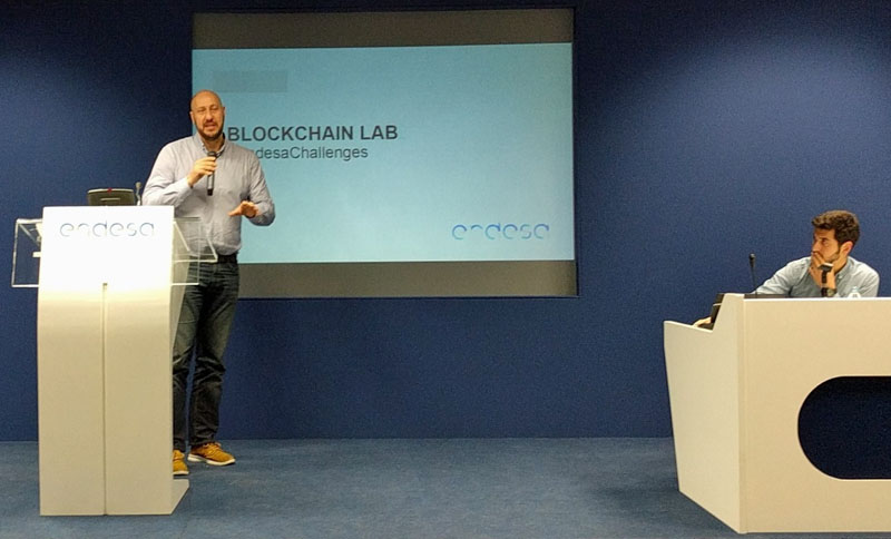 Ismael Pulido presenta a Endesa Energy Challenges y Blockchain Lab.