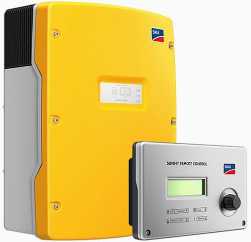 Uno de los modelos de inversores de SMA que ofrece Bornay Aerogeneradores, compatible con baterías TESLA.