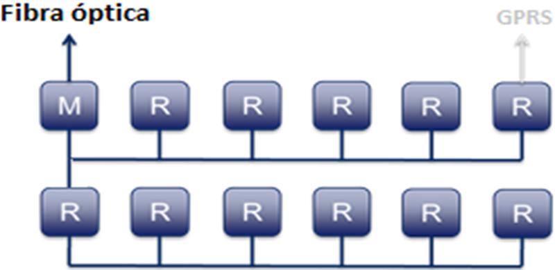 Figura 5. Célula Fibra óptica