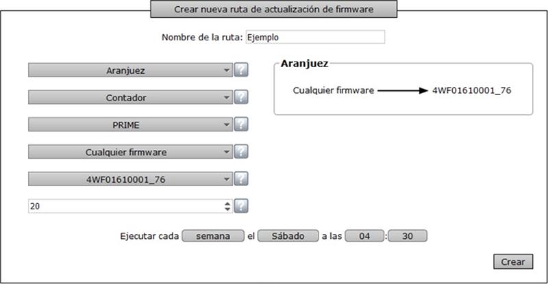 Figura 4. Descripción Creación ruda Actualización del Firmware.