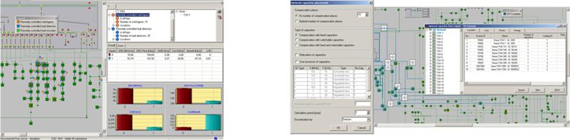 Figura 5. Automatización de la Red y Emplazamiento de Condensadores.