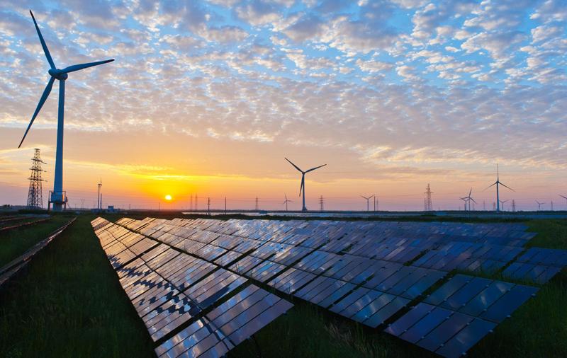 Planta solar y eólica. Generación distribuida con energías renovables. Redes inteligentes.
