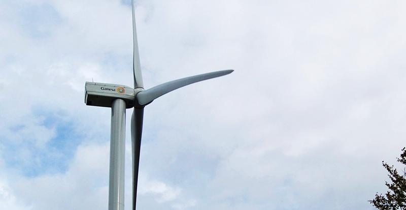 Modelo de aerogenerador que Gamesa suministra al primer parque eólico de Indonesia, que entrará en funcionamiento en 2018.