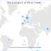 Un mapa interactivo muestra la evolución de la industria eólica en 2016