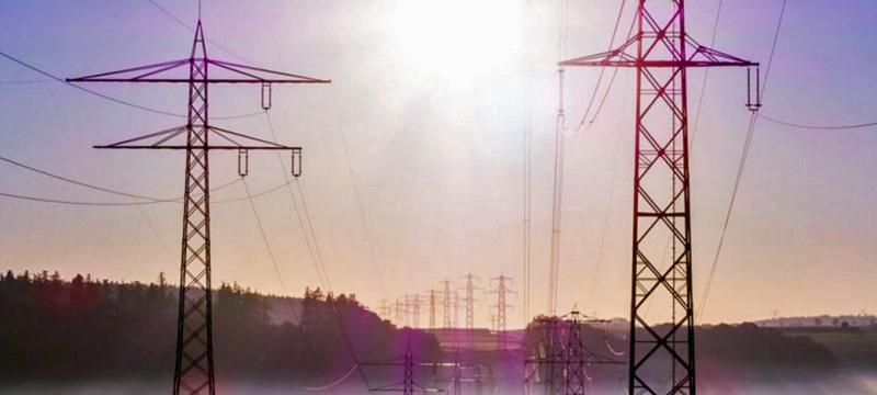 Torres alta tensión de la red eléctrica