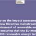 Estudio sobre la ampliación del despliegue de energías renovables en la UE
