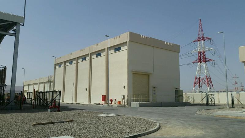 Subestación eléctrica en Omán.