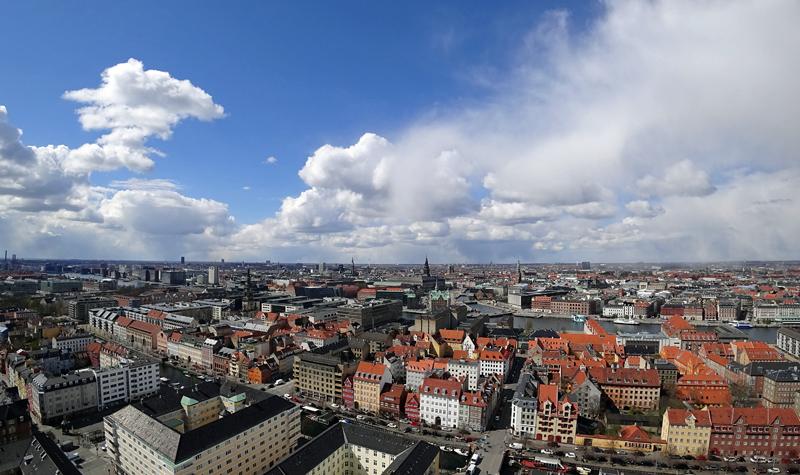 Panorámica de la ciudad de Copenhague