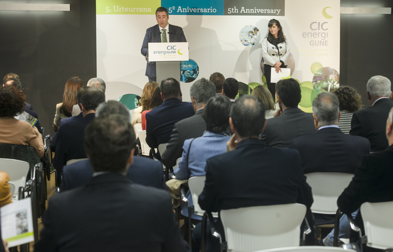 Nuria Gisbert en el 5ª Aniversario de CIC EnergiGUNE