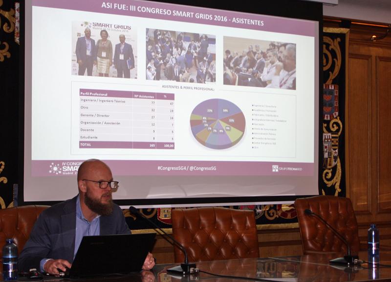 Stefan Juenstrand presentando el IV Congreso Smart Grids