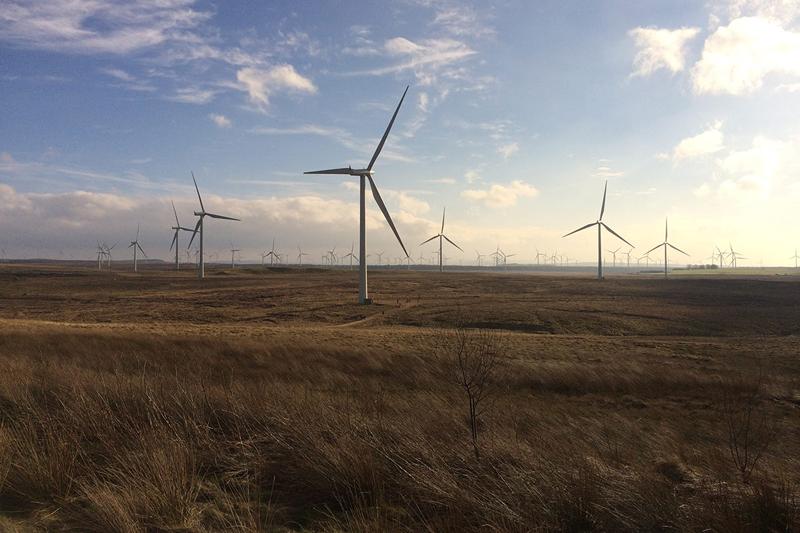 Datos sobre la capacidad de energía Eólica en el primer semestre de 2017 en Europa.