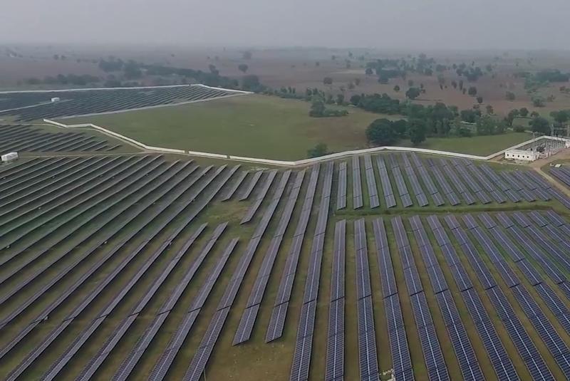 Parque fotovoltaico en India.