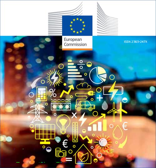 Fragmento de la portada de la guía de bolsillo 2017 con datos estadísticos sobre la energía en Unión Europea.