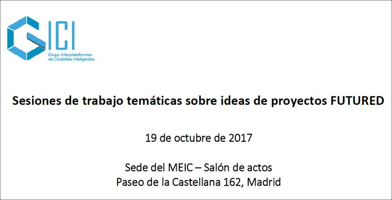 Anuncio workshop temáticas sobre ideas de proyectos FUTURED