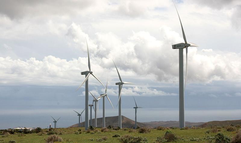 El Consejo de Gobierno de Canarias ha aprobado la ejecución de la modificación del proyecto por el que se repotenciará el Parque Eólico Los Valles de Lanzarote. Foto: Frank Vincentz
