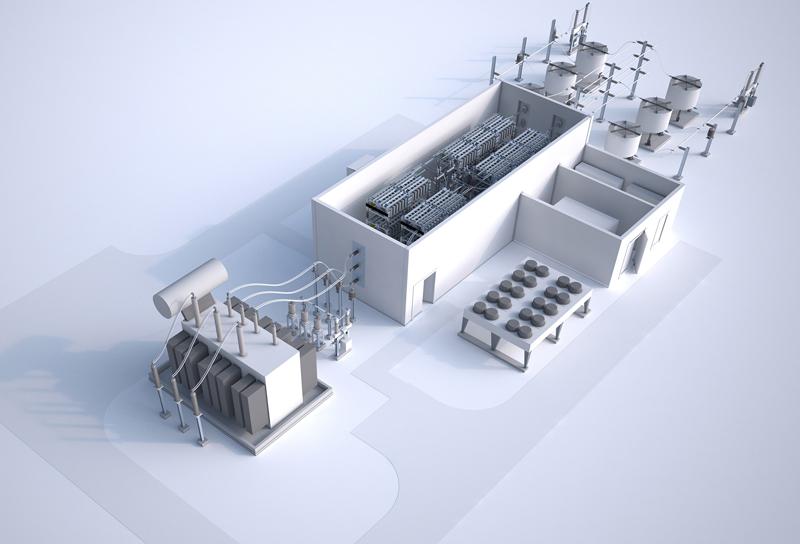 Transmisión de energía eléctrica eficiente en el rango de 30 a 150 megavatios.