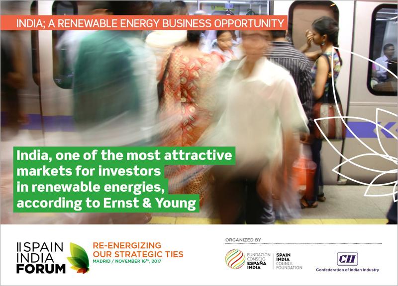 El Foro España-India supone una oportunidad de negocio para las empresas de energías renovables españolas.