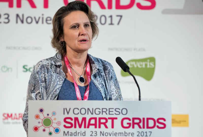 La Presidenta de FutuRed, Blanca Losada, en la inauguración del IV Congreso Smart Grids.