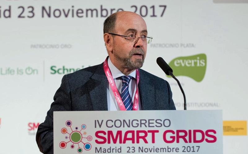 Emilio Mínguez, Director de la Escuela Técnica Superior de Ingenieros Industriales, participó en la inauguración del IV Congreso Smart Grids.