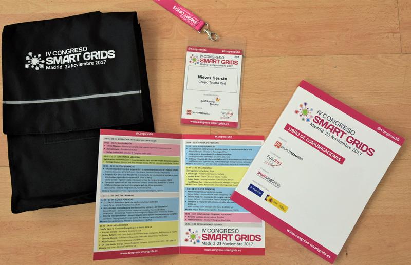 Material entregado a los asistentes al IV Congreso Smart Grids.
