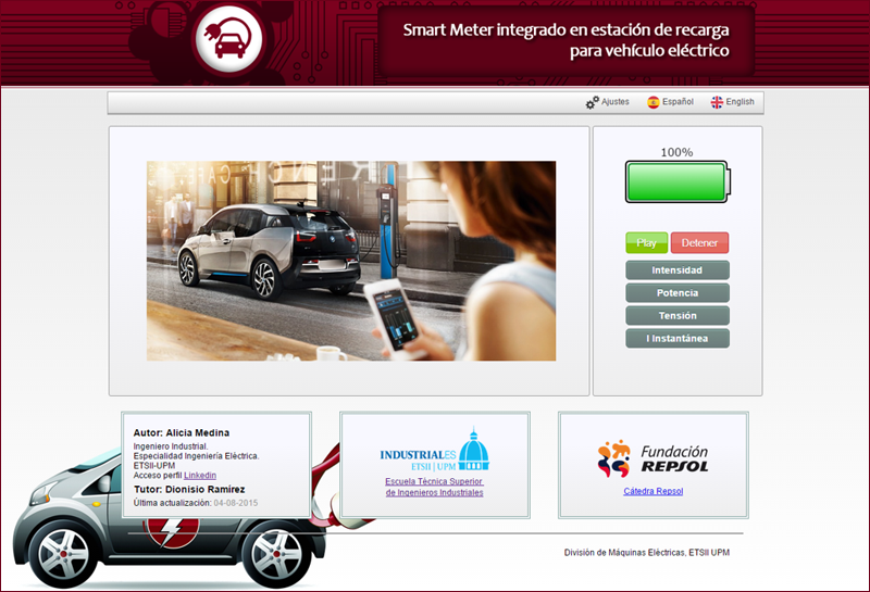 Vista previa de la página web de Smart-Meter