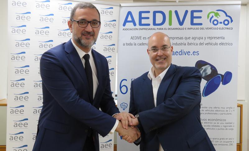 Colaboración entre AEDIVE y AEE para impulsar acciones relacionadas con el automóvil eléctrico y la energía eólica