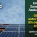 Andalucía impulsa el autoconsumo eléctrico con 15 millones de euros en incentivos para el desarrollo sostenible
