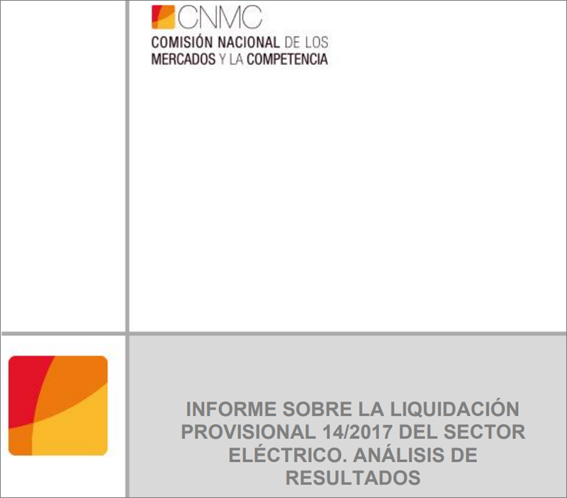 Portada informe sector eléctrico