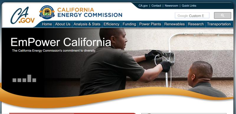 Web de la Comisión de Energía de California