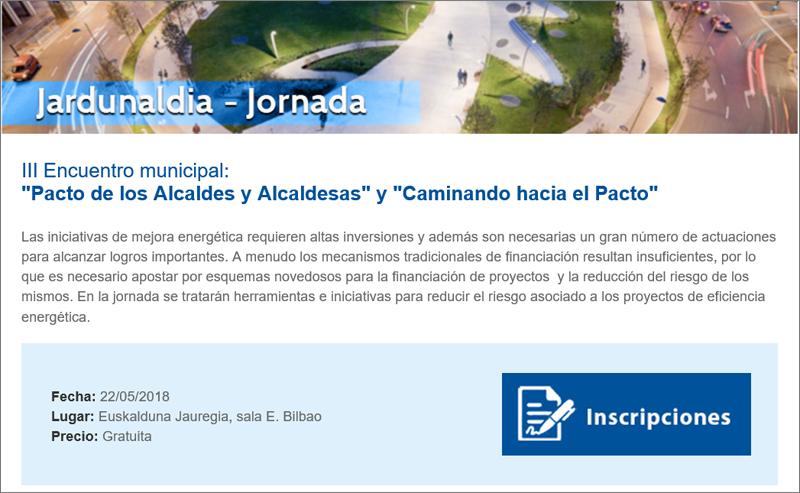 el III Encuentro municipal: Pacto de los Alcaldes y Alcaldesas