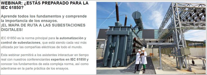 Webinar sobre la norma IEC 61850