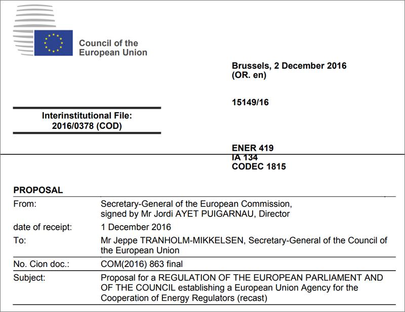 Propuesta de la Comisión Europea
