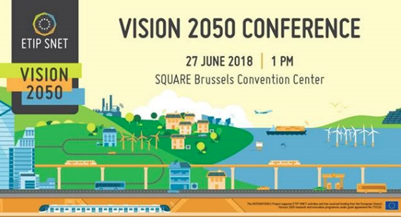Cartel del evento en Bruselas Vision 2050