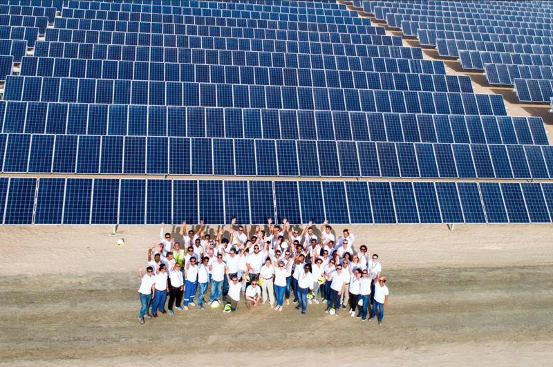 Acciona, Ghella y Grupo Gransolar finalizan la primera fase de una nueva planta fotovoltaica en Dubái