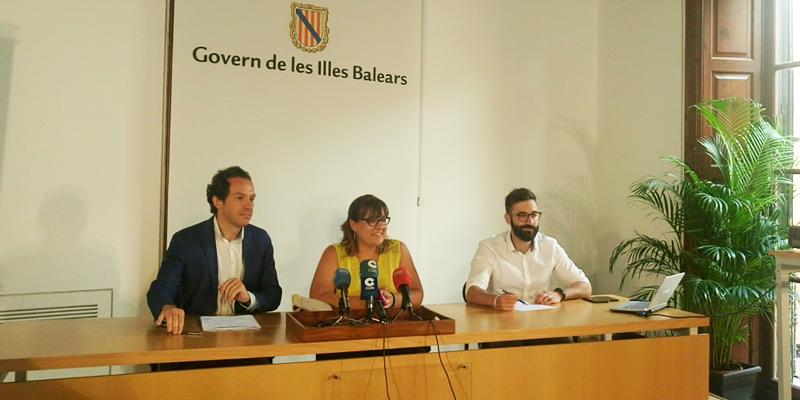 Rueda de prensa del Govern de les Illes Balears.