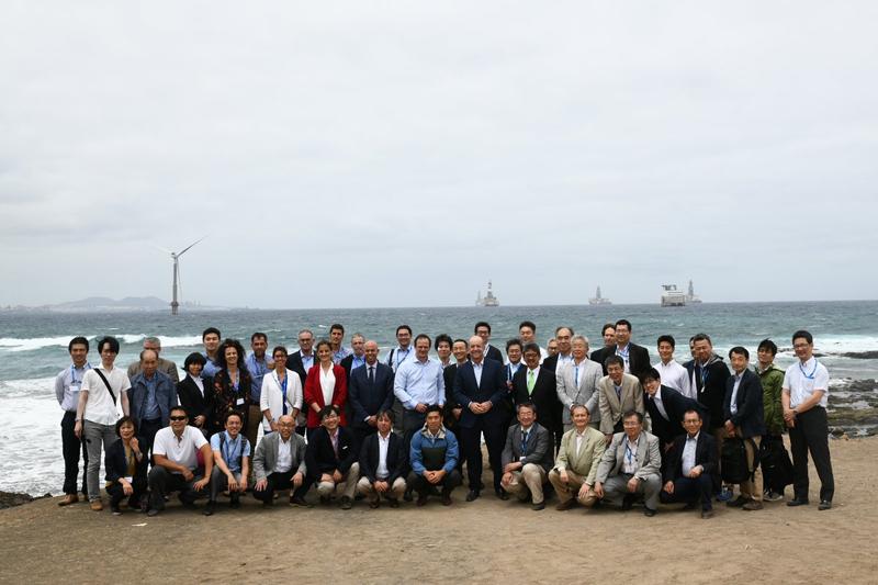 Representantes de empresas japonesas que han visitado Canarias para interesarse por los avances de las islas en materia de energía eólica.