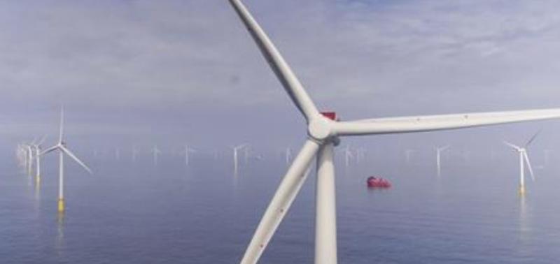 Turbinas de parque eólico offshore
